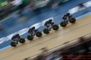 Women's Team Pursuit Qualifying New Zealand Team 3rd March 2016