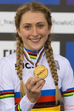 Women's Scratch Race Final Laura Trott GBR Gold Medal 3rd March 2016