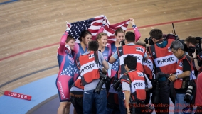 Women's Team Pursuit Finals Gold Medal USA Team 4th March 2016