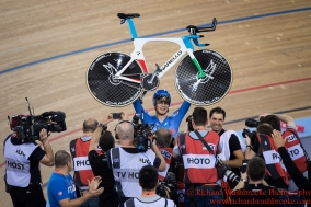 Men's Individual Pursuit Final Gold Medal Flippo Ganna ITA 4th March 2016