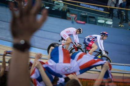 Men's Sprint Semi Final Jason Kenny GBR beats Damian Zielinski POL to go through to the final 5th March 2016