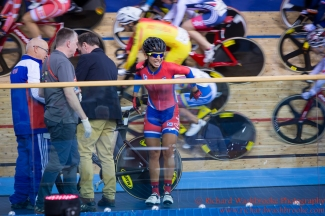 Women's Omnium Final Marlies Mejias Garcia CUB takes a fall 5th March 2016