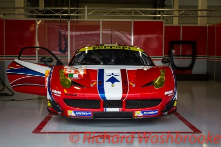 Francois Perrodo (FRA) / Emmanuel Collard (FRA) / Rui Aguas (PRT) driving the LMGTE Am AF Corse Ferrari F458 Italia FIA WEC 6H Silverstone - Friday 15th April 2016