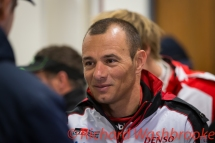 Stephane Sarrazin (FRA) drivers briefing he will be driving the LMP1 Toyota Gazzo Racing Toyota TS050 - Hybrid FIA WEC 6H Silverstone - Friday 15th April 2016