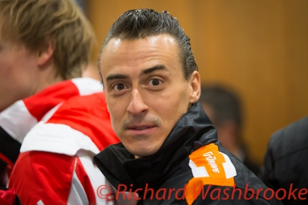 Roman Rusinov (RUS) drivers briefing he will be driving the LMP2 G-Drive Racing Oreca 05 - Nissan FIA WEC 6H Silverstone - Friday 15th April 2016