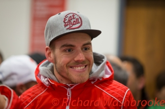 Dominik Kraihamer (AUT) drivers briefing he will be driving the LMP1 Rebellion Racing Rebellion R-One - AER FIA WEC 6H Silverstone - Friday 15th April 2016
