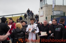 Mark Webber (AUS) signing autographs he will be driving the #1 LMP1 Porsche Team (DEU) Porsche 919 Hybrid FIA WEC 6H Silverstone - Friday 15th April 2016