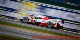 Stephane Sarrazin (FRA) / Mike Conway (GBR) / Kamui Kobayashi (JPN) driving the LMP1 Toyota Gazzo Racing Toyota TS050 - Hybrid Free Practice 1 FIA WEC 6H Silverstone - Friday 15th April 2016