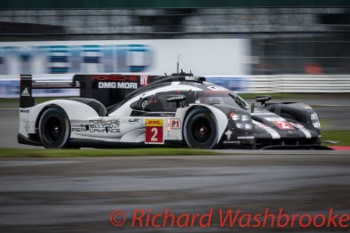 Romain Dumas (FRA) / Neel Jani (CHE) / Marc Lieb (DEU) driving the #2 LMP1 Porsche Team (DEU) Porsche 919 Hybrid Free Practice 1 FIA WEC 6H Silverstone - Friday 15th April 2016