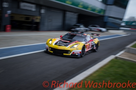 Yutaka Yamagishi (JPN) / Pierre Ragues (FRA) / Paolo Ruberti (ITA) driving the LMGTE Am Larbre Competition Chevrolet Corvette C7 Free Practice 2 FIA WEC 6H Silverstone - Friday 15th April 2016
