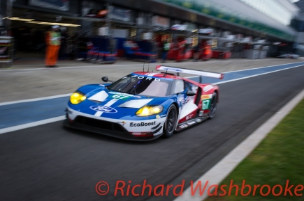 Marino Franchitti (GBR) / Andy Priaulx (GBR) / Harry Tinchnell (GBR) driving the LMGTE Pro Ford Chip Ganassi Team UK Ford GT Free Practice 2 FIA WEC 6H Silverstone - Friday 15th April 2016