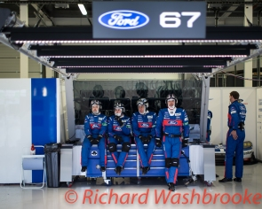 Mechanics for the LMGTE Pro Ford Chip Ganassi Team UK Ford GT Free Practice 2 FIA WEC 6H Silverstone - Friday 15th April 2016