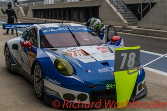 Christian Ried (DEU) / Wolf Henzler (DEU) / Joel Camathias (CHE) driving the LMGTE Am KCMG Porsche 911 RSR Free Practice 2 FIA WEC 6H Silverstone - Friday 15th April 2016