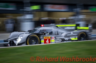 Simon Trummer (CHE) / Oliver Webb (GBR) / James Rossiter (GBR) driving the #4 LMP1 Bykolles Racing Team CLM P1/01 - AER Free Practice 2 FIA WEC 6H Silverstone - Friday 15th April 2016