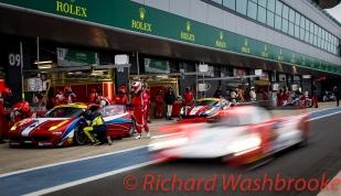Francois Perrodo (FRA) / Emmanuel Collard (FRA) / Rui Aguas (PRT) driving the LMGTE Am AF Corse Ferrari F458 Italia Free Practice 2 FIA WEC 6H Silverstone - Friday 15th April 2016