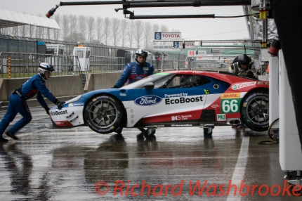 William Johnson (USA) / Stefan Mucke (DEU) / Olivier Pla (FRA) driving the LMGTE Pro Ford Chip Ganassi Team UK Ford GT Free Practice 3 FIA WEC 6H Silverstone - Saturday 16th April 2016