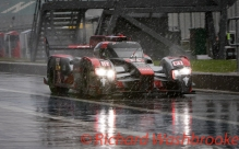 Lucas Di Grassi (BRA) / Loic Duval (FRA) / Oliver Jarvis (GBR) driving the LMP1 Audi Sport Team Joest Audi R18 Hybrid Free Practice 3 FIA WEC 6H Silverstone - Saturday 16th April 2016