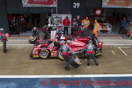 Nicolas Prost (FRA) / Nelson Piquet (BRA) / Nick Heidfeld (DEU) driving the LMP1 Rebellion Racing Rebellion R-One - AER Qualifying LMP1 & LMP2 FIA WEC 6H Silverstone - Saturday 16th April