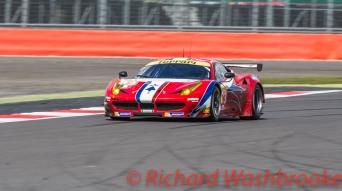 Francois Perrodo (FRA) / Emmanuel Collard (FRA) / Rui Aguas (PRT) driving the LMGTE Am AF Corse Ferrari F458 Italia FIA WEC 6H Silverstone - Sunday 17th April 2016