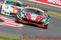 Gianmaria Bruni (ITA) / James Calado (GBR) driving the LMGTE Pro AF Corse Ferrari 488 GTE FIA WEC 6H Silverstone - Sunday 17th April 2016