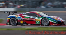 Gianmaria Bruni (ITA) / James Calado (GBR) driving the LMGTE Pro AF Corse Ferrari 488 GTE FIA WEC 6H Silverstone - Sunday 17th April 2016