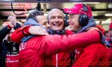 Marcel Fassler (CHE) / Andre Lotterer (DEU) / Benoit Treluyer (FRA) driving the LMP1 Audi Sport Team Joest Audi R18 Hybrid cele winning the race FIA WEC 6H Silverstone - Sunday 17th April 2016